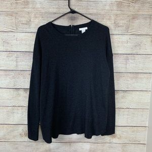 H&M sweater with gold zipper detail in back
